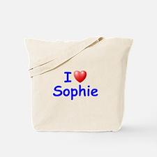 I Love Sophie (Blue) Tote Bag