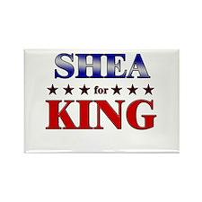 SHEA for king Rectangle Magnet