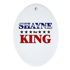 SHAYNE for king Oval Ornament