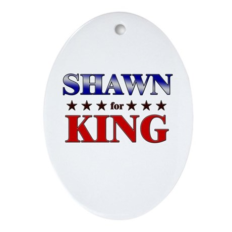 SHAWN for king Oval Ornament