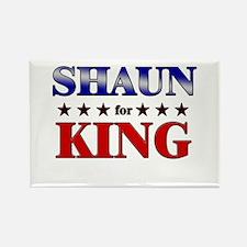 SHAUN for king Rectangle Magnet