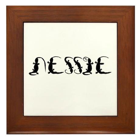 NESSIE TEXT Framed Tile