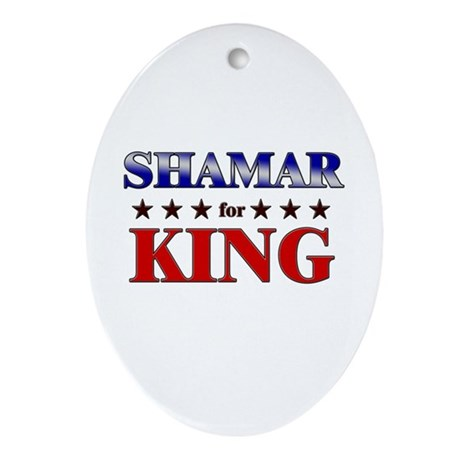 SHAMAR for king Oval Ornament