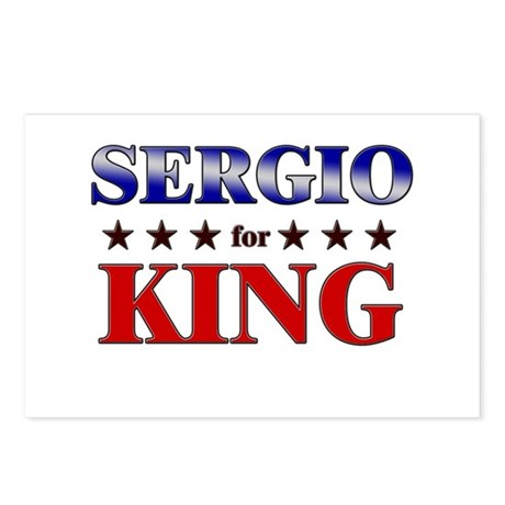 SERGIO for king Postcards (Package of 8)