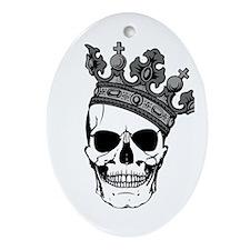 Skull King Oval Ornament