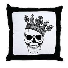 Skull King Throw Pillow