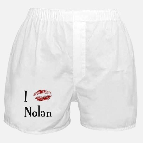 I Kissed Nolan Boxer Shorts