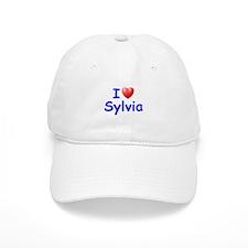 I Love Sylvia (Blue) Baseball Cap