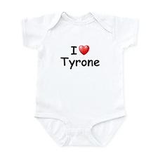 I Love Tyrone (Black) Infant Bodysuit