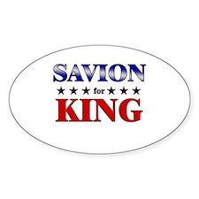 SAVION for king Oval Decal