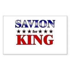SAVION for king Rectangle Bumper Stickers