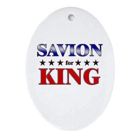 SAVION for king Oval Ornament