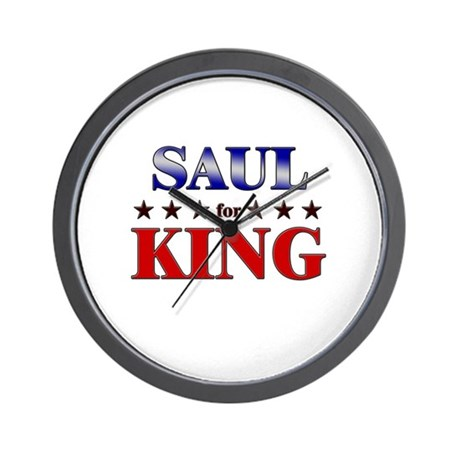 SAUL for king Wall Clock