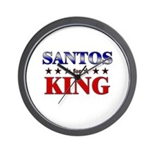 SANTOS for king Wall Clock