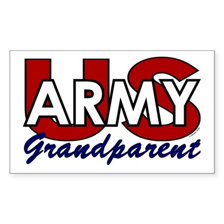 US Army Grandparent Rectangle Sticker