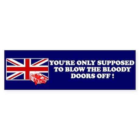 Italian Job Union Flag Bumper Sticker