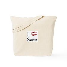 I Kissed Sonia Tote Bag