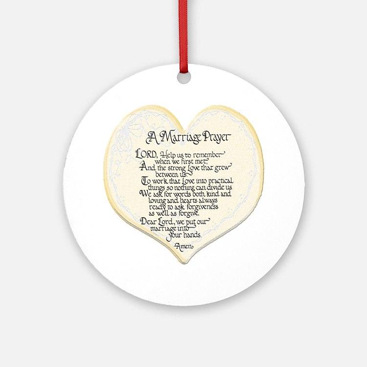 Marriage Prayer Keepsake (Round)