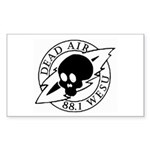 DEAD AIR Rectangle Sticker