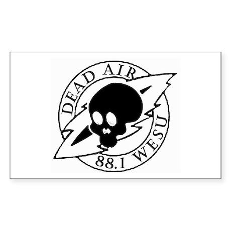 DEAD AIR Rectangle Sticker