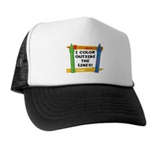 Color Outside The Lines Trucker Hat
