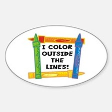Color Outside The Lines Oval Decal