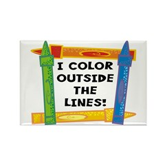Color Outside The Lines Rectangle Magnet