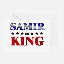 SAMIR for king Greeting Card