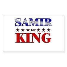 SAMIR for king Rectangle Decal
