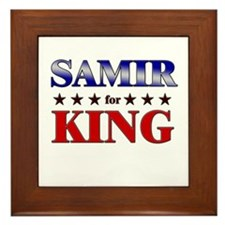 SAMIR for king Framed Tile