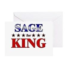 SAGE for king Greeting Card