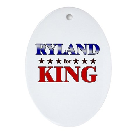 RYLAND for king Oval Ornament