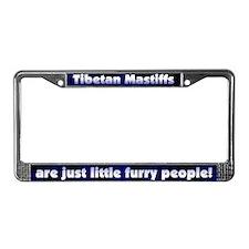 Furry People Tibetan Mastiff License Plate Frame