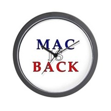 Mac is Back Wall Clock