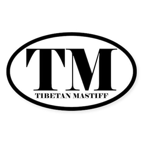 TM Abbreviation Tibetan Mastiff Sticker