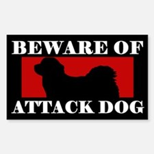 Beware of Attack Dog Tibetan Mastiff Decal