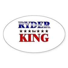 RYDER for king Oval Decal