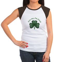 Kiss me, I'm Irish! Women's Cap Sleeve T-Shirt
