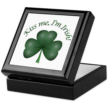 Kiss me, I'm Irish! Keepsake Box