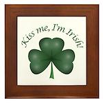Kiss me, I'm Irish! Framed Tile