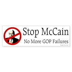 Stop McCain Bumper Bumper Sticker