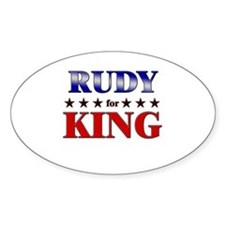 RUDY for king Oval Decal