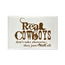 Real Cowboys Rectangle Magnet