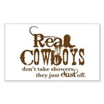 Real Cowboys Rectangle Sticker