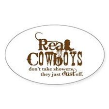 Real Cowboys Oval Decal