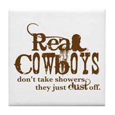Real Cowboys Tile Coaster