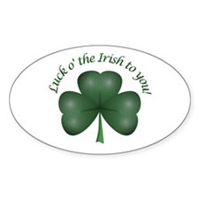 Luck of the Irish Oval Decal
