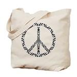 Peace Sign (bw) Tote Bag