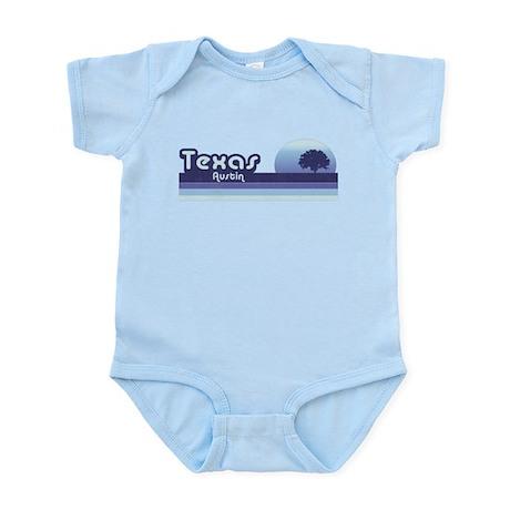 Austin Texas Blue Retro Infant Bodysuit