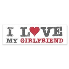 I Love (heart) My Girlfriend Bumper Bumper Sticker